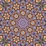Tiling pattern with 8, 6 and 5 sided symmetries