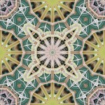 12 and 8-fold symmetrical tiling pattern