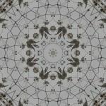 Milkweed pod in 8-fold symmetrical tiling pattern
