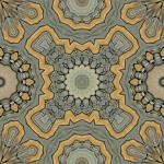 Stone wall made into tiling pattern of 16, 12 and 8-fold symmetry