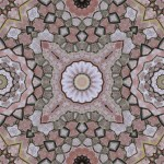 Tiling pattern from old brick wall with 16, 12 and 8-fold symmetry