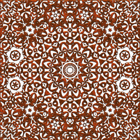 Coppery Metal Sihouette Pattern