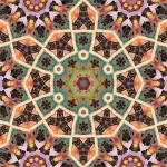 9 and 6-fold symmetrical tiling pattern
