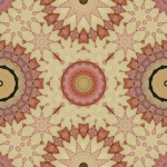 Tiling pattern - fall leaves, 16, 12, 8-fold symmetry