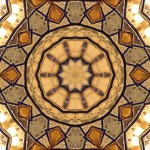 Wine glass tiling pattern with 10-fold symmetry