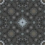 Motorcycle photo in pattern of 12, 8 and 6-fold symmetry