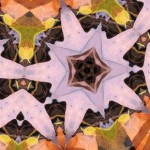 Orange and Periwinkle Geometric Design by Douglas P. Hill